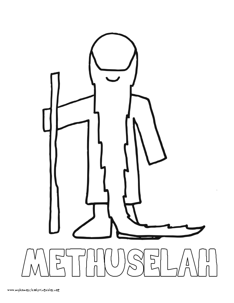 World History Coloring Pages Printables Methuselah