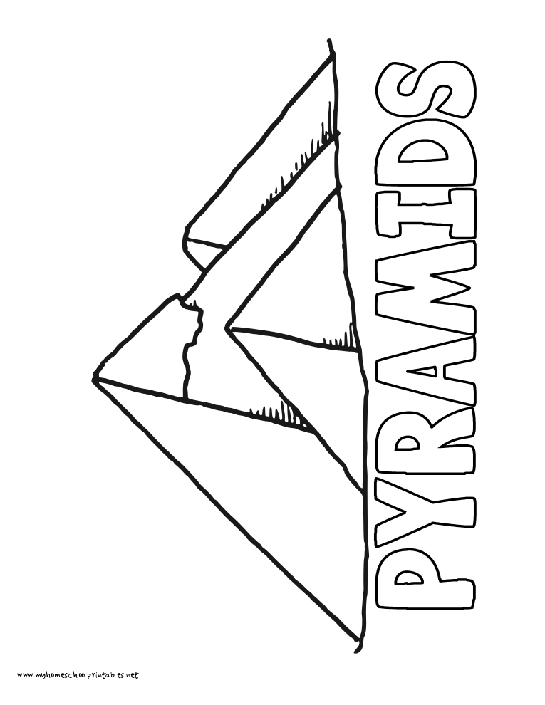 World History Coloring Pages Printables Pyramids