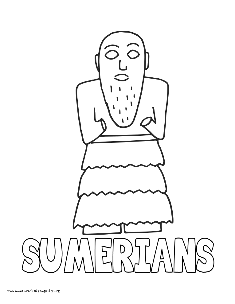 World History Coloring Pages Printables Sumerians