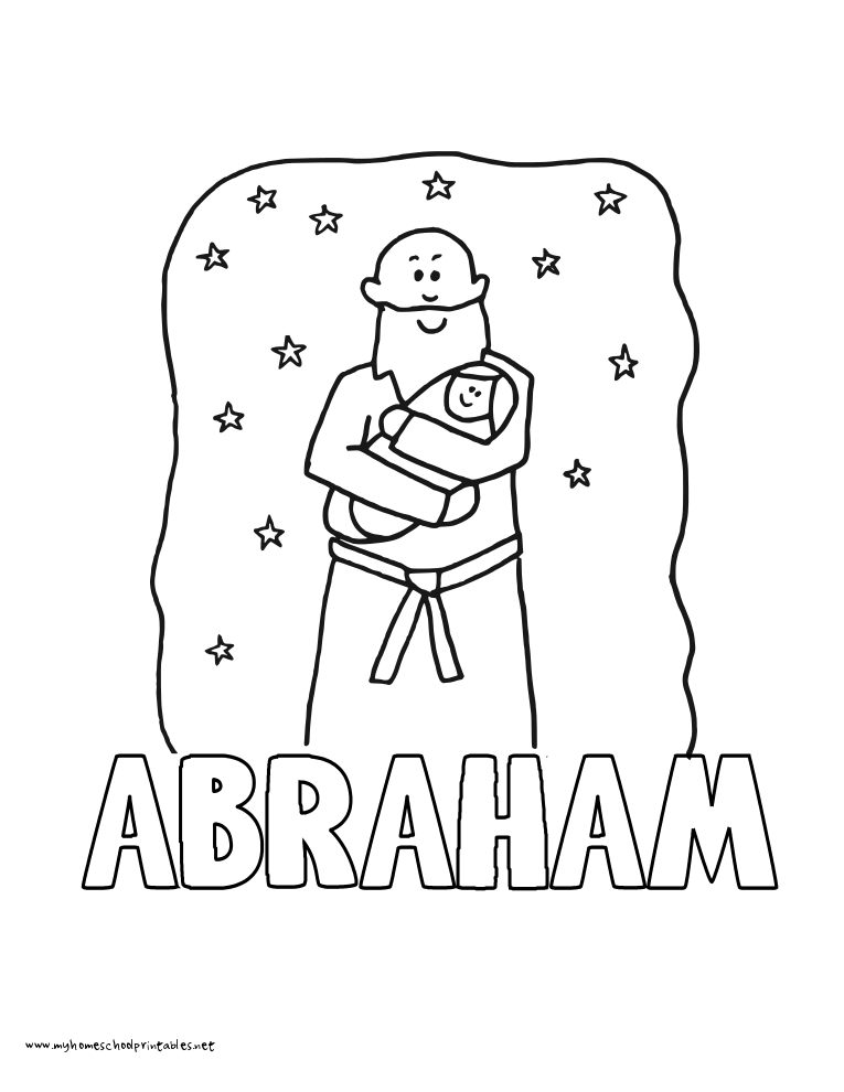 World History Coloring Pages Printables Abraham