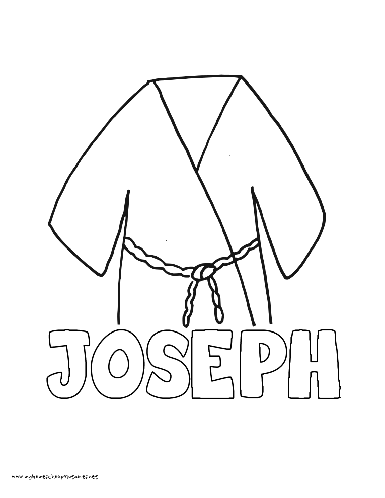 World History Coloring Pages Printables Joseph