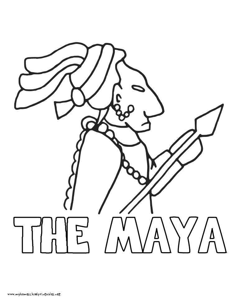 World History Coloring Pages Printables Maya