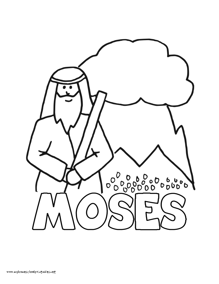 World History Coloring Pages Printables Moses