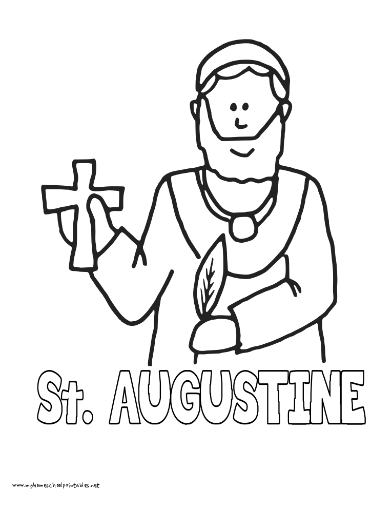 World History Coloring Pages Printables Augustine