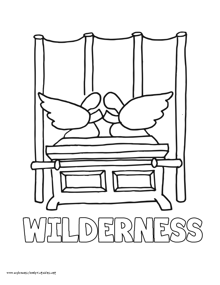 World History Coloring Pages Printables Arc & Tabernacle