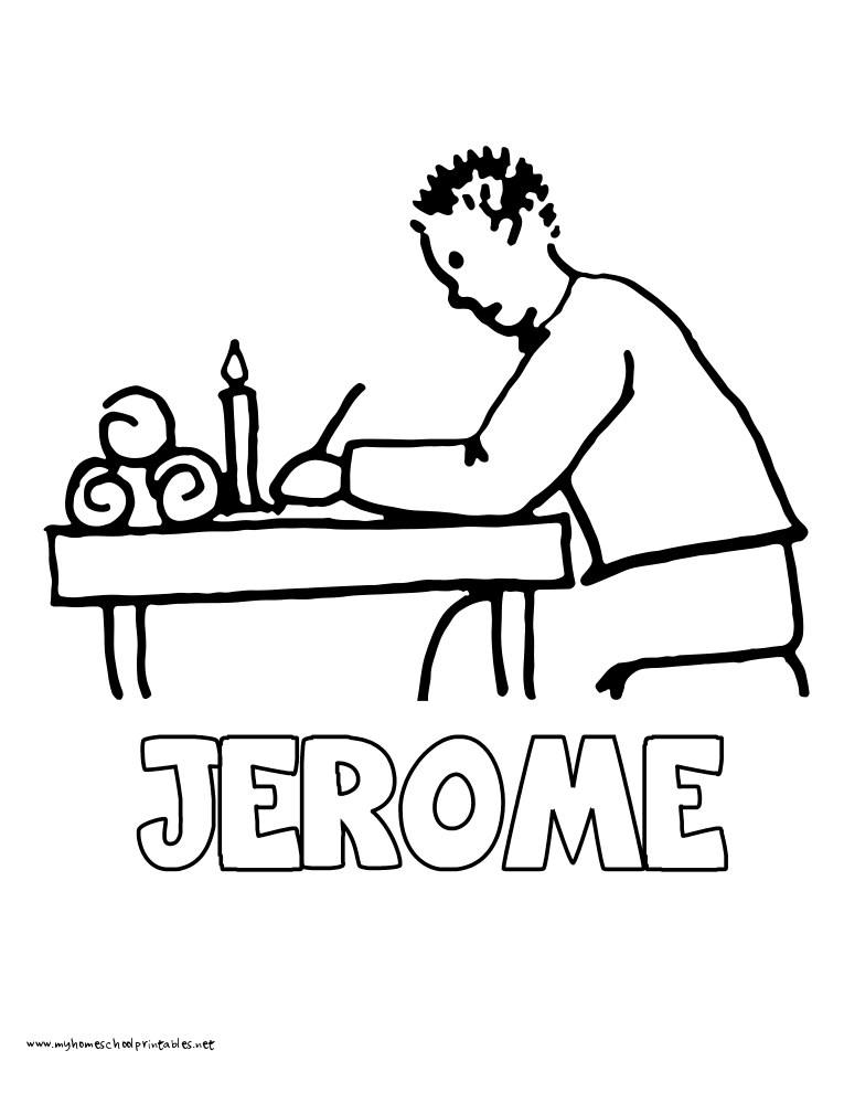 World History Coloring Pages Printables Jerome