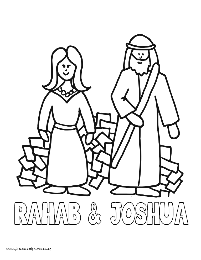 World History Coloring Pages Printables Rahab Joshua