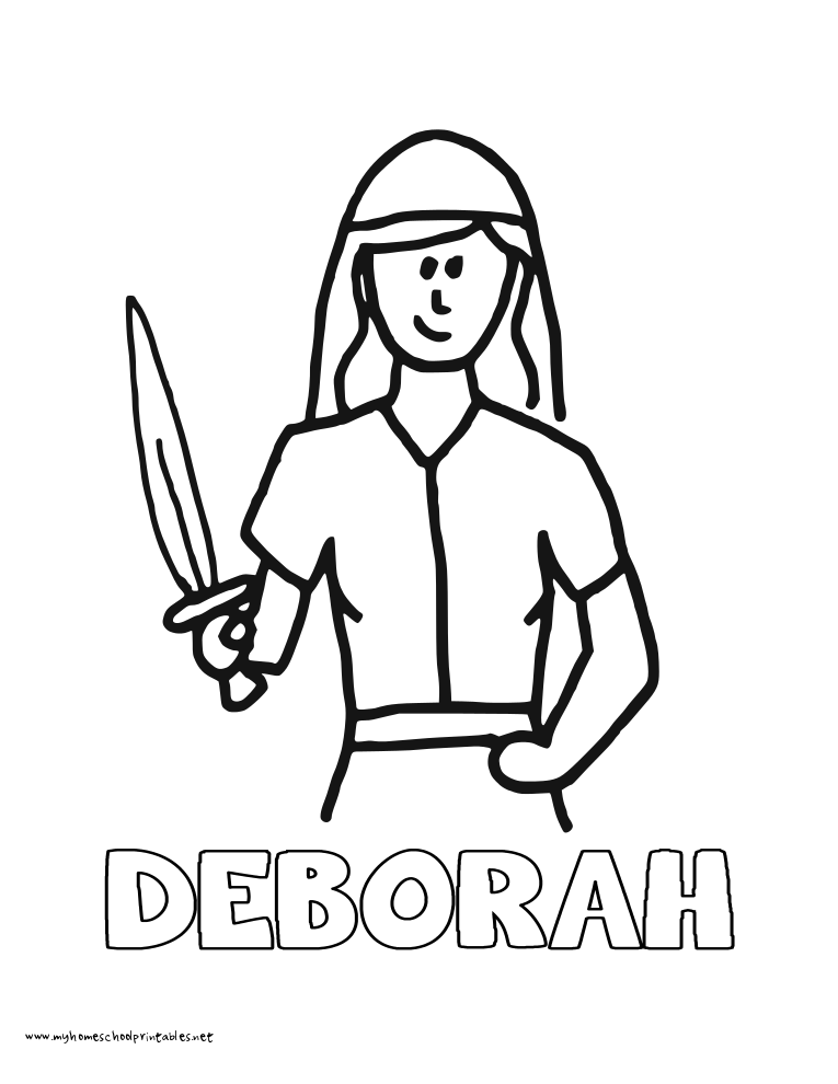 Image Result For Deborah Bible Coloring Page