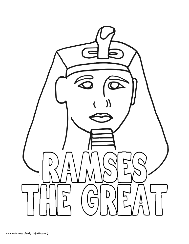 World History Coloring Pages Printables Ramses