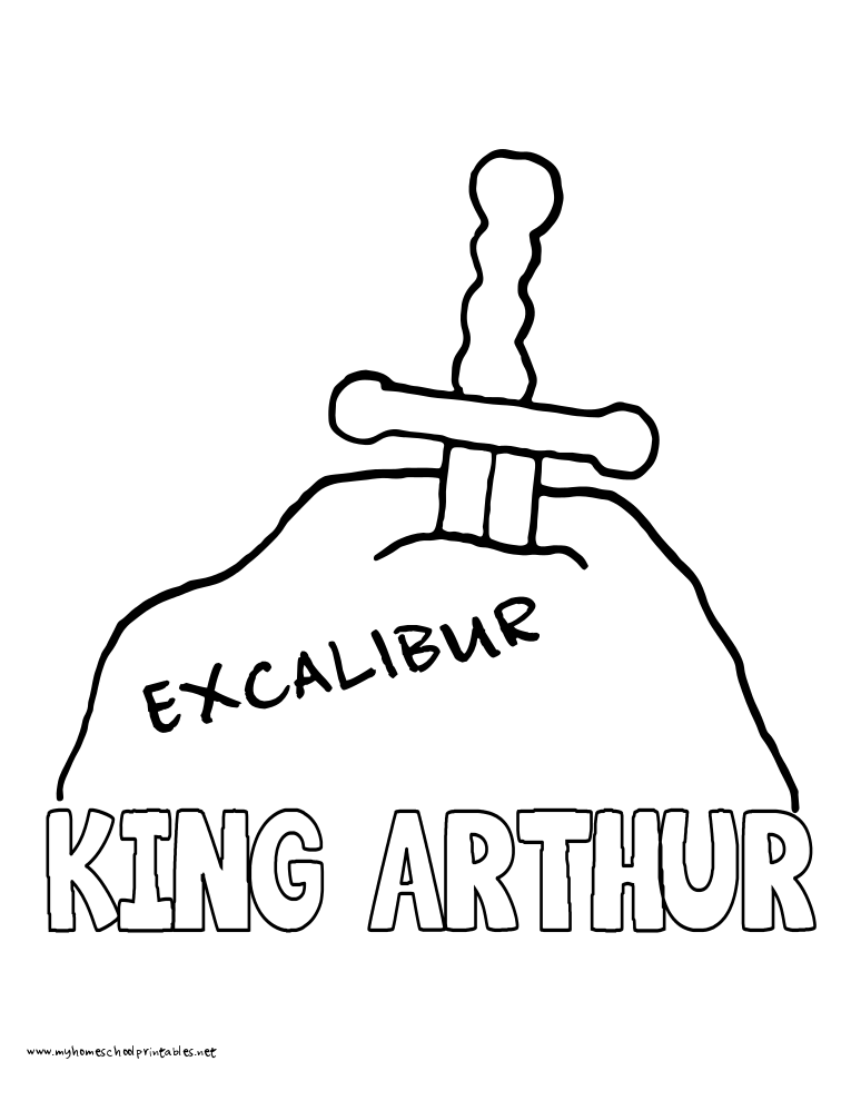 World History Coloring Pages Printables King Arthur