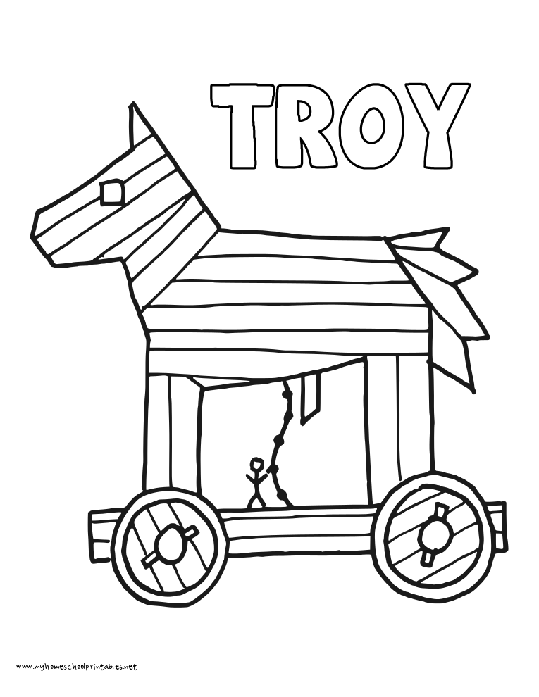 World History Coloring Pages Printables Troy