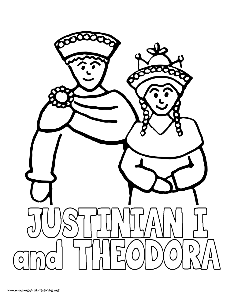 World History Coloring Pages Printables Justinian