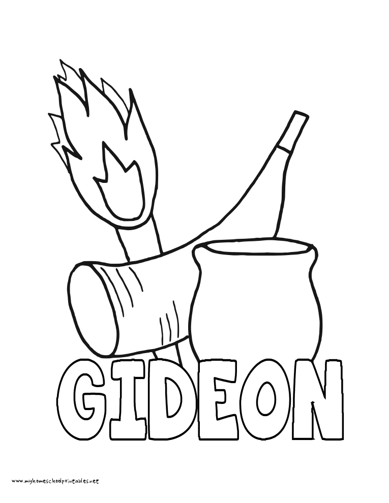 World History Coloring Pages Printables Gideon