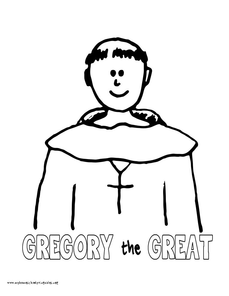 world history coloring pages printables gregory the great