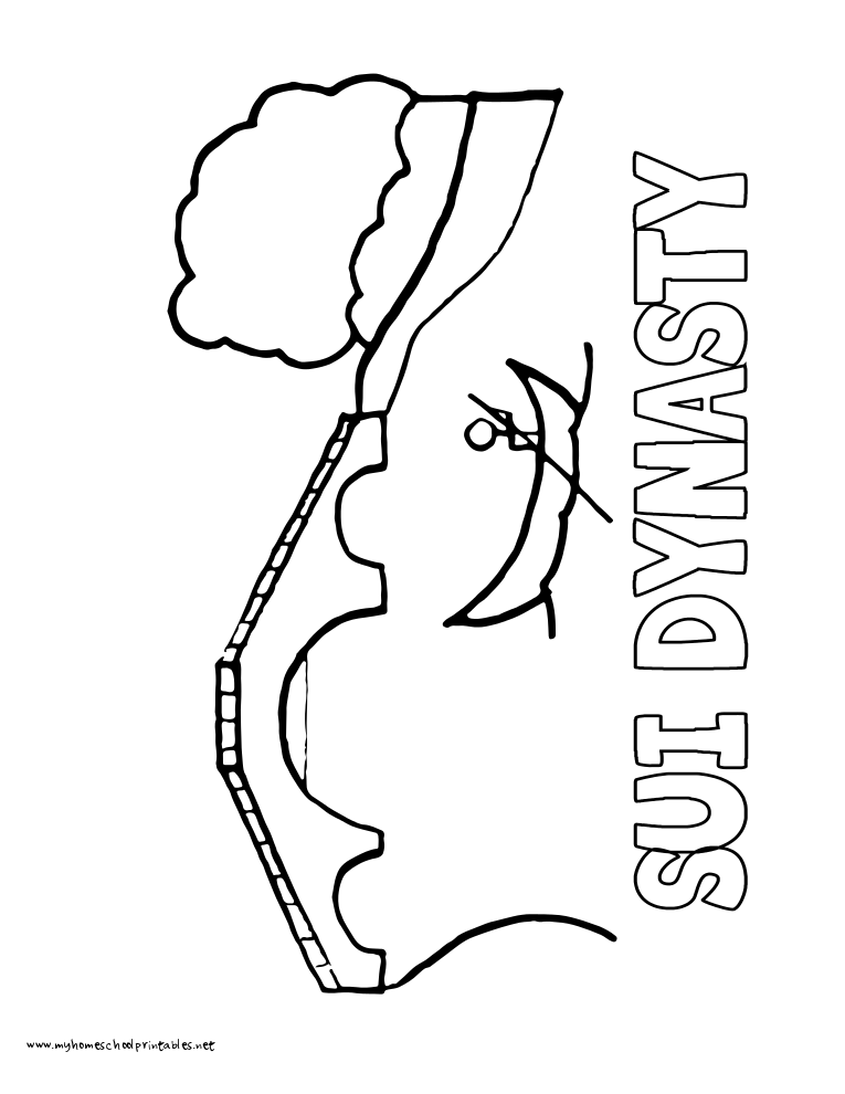 World History Coloring Pages Printables Sui Dynasty