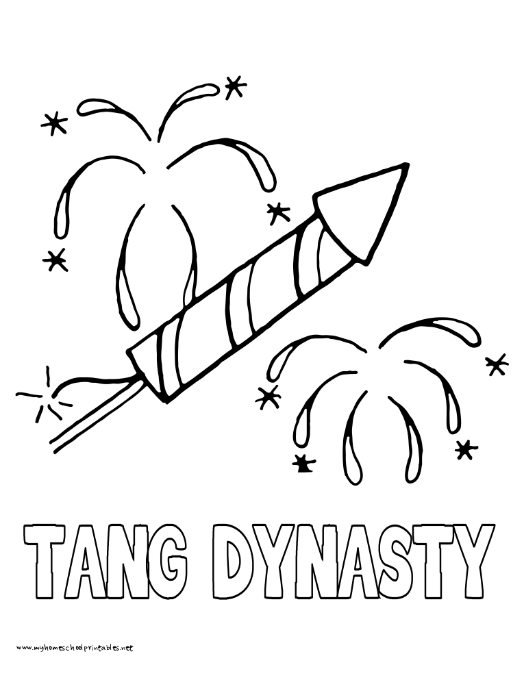 World History Coloring Pages Printables Tang Dynasty