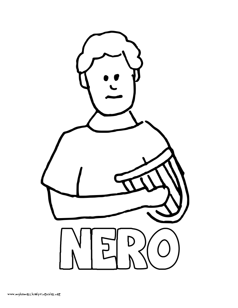 World History Coloring Pages Printables Nero