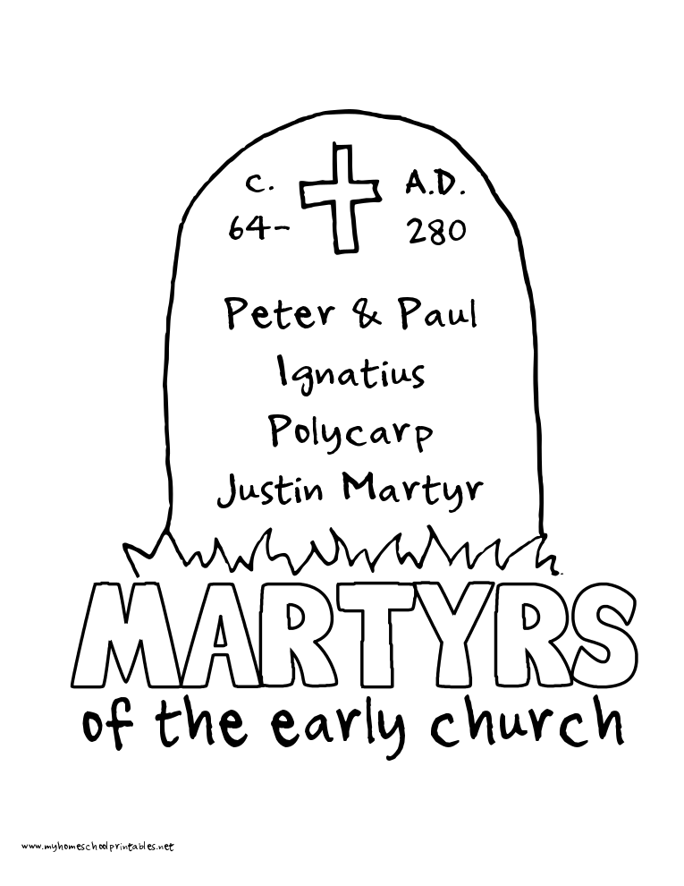 World History Coloring Pages Printables Martyrs