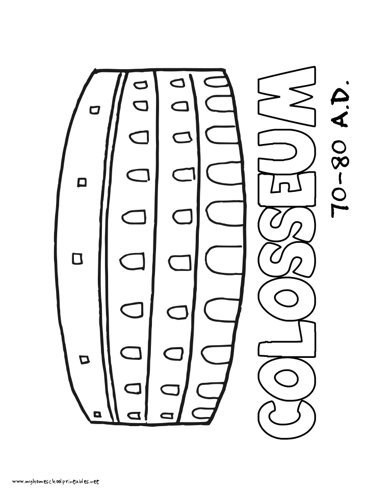 World History Coloring Pages Printables Colosseum