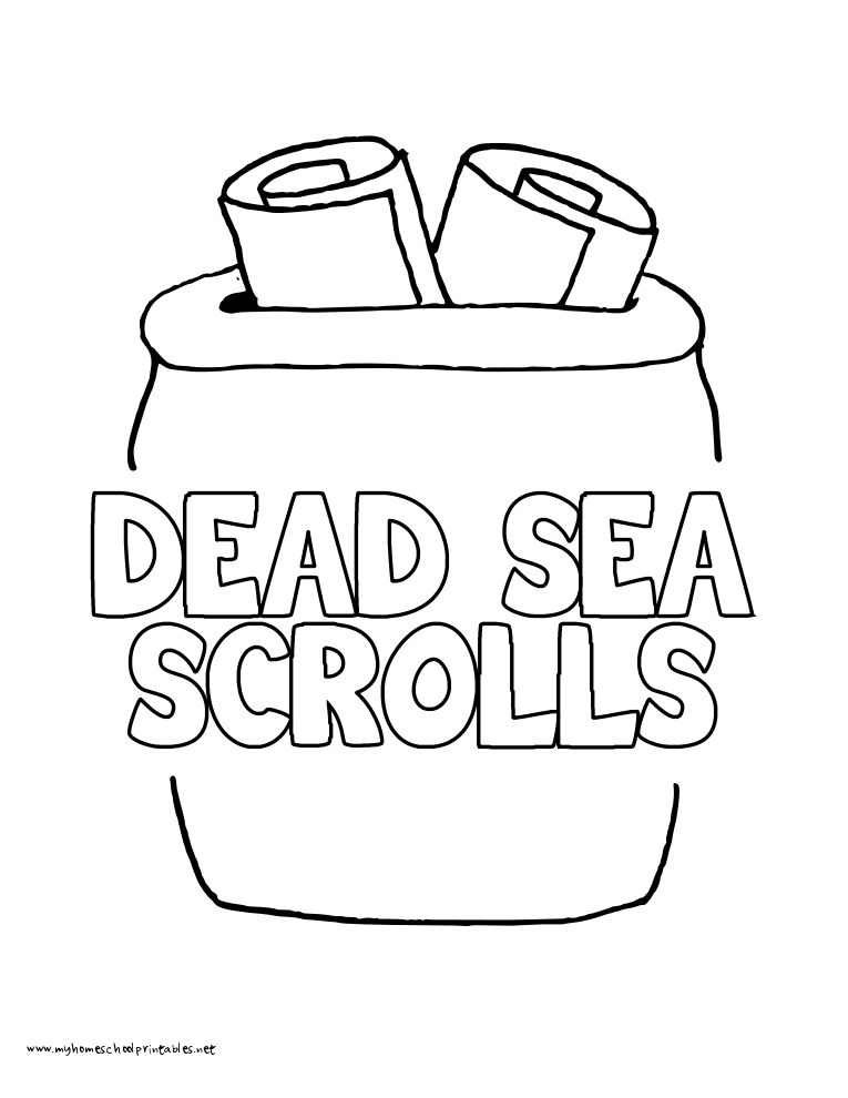 World History Coloring Pages Printables Dead Sea Scrolls