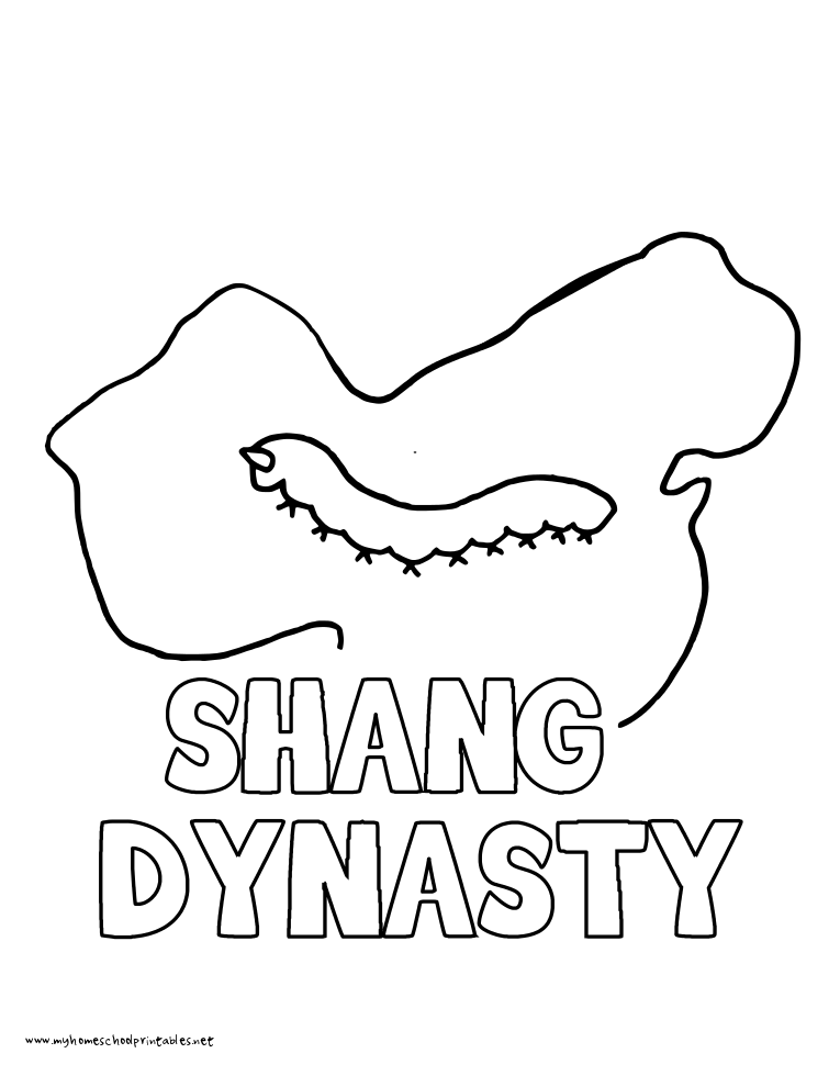 World History Coloring Pages Printables Shang Dynasty