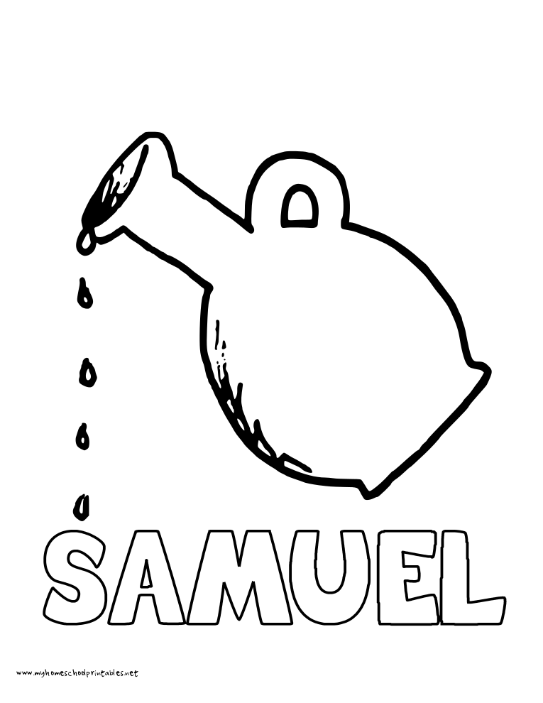 World History Coloring Pages Printables Samuel