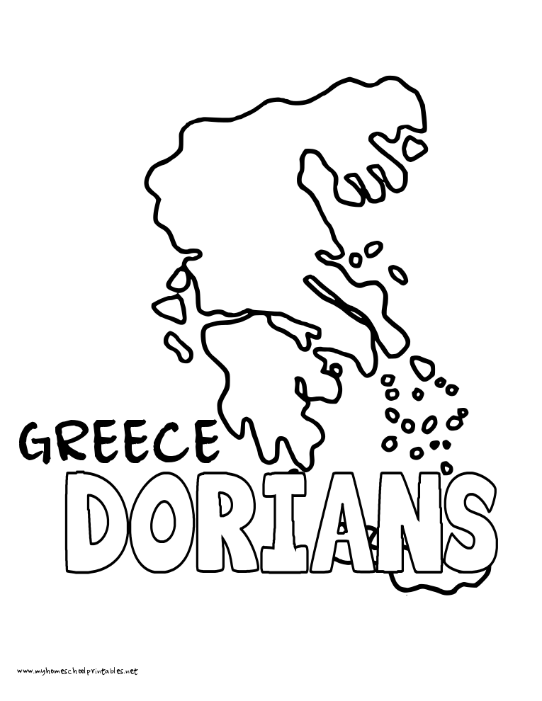 World History Coloring Pages Printables Dorians