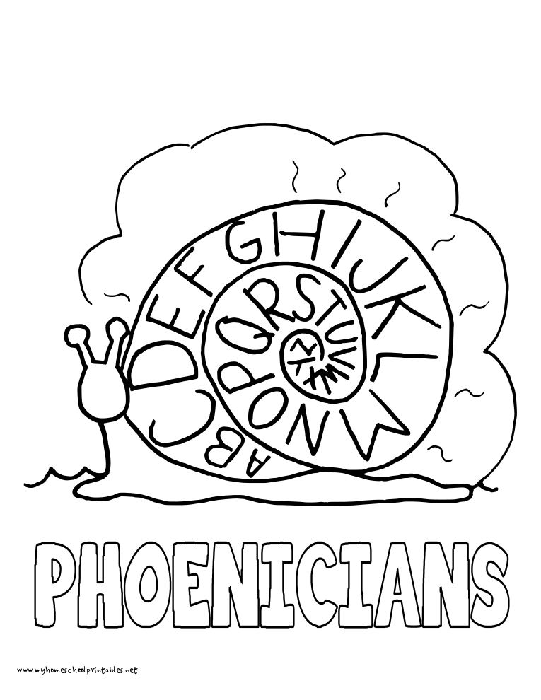 World History Coloring Pages Printables Phoenicians