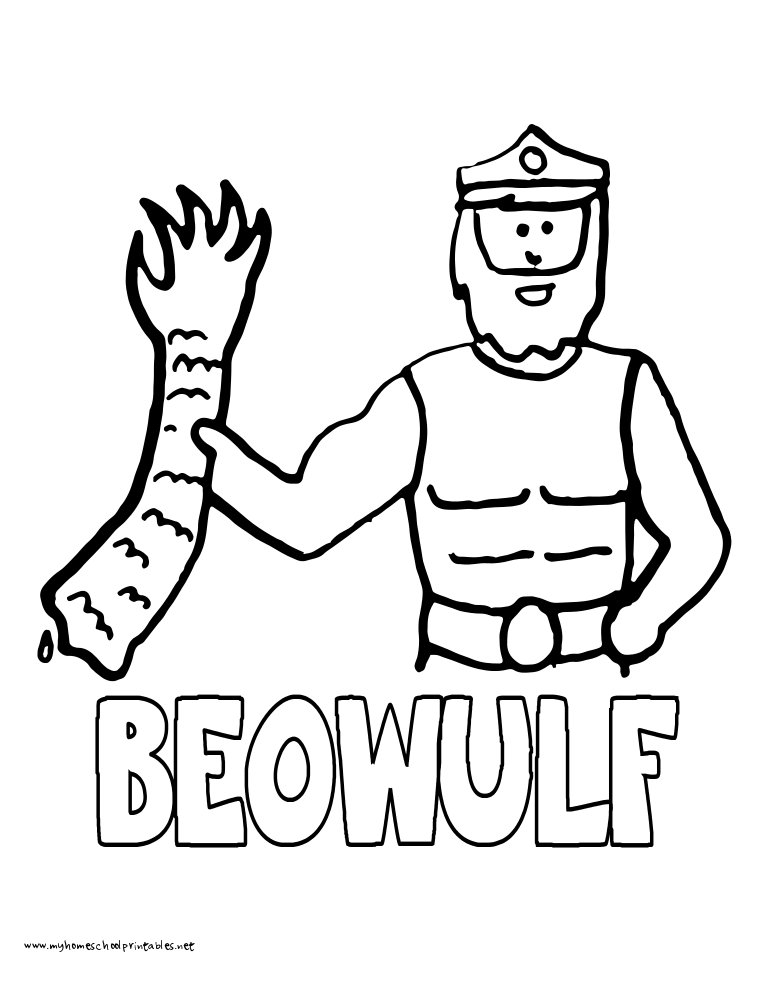 World History Coloring Pages Printables Beowulf
