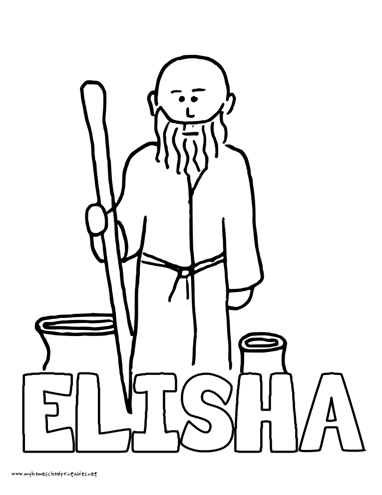 naaman and elisha coloring pages - photo #16