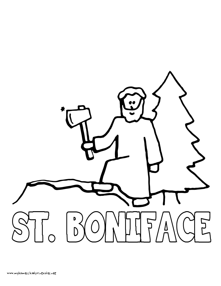 World History Coloring Pages Printables Saint Boniface