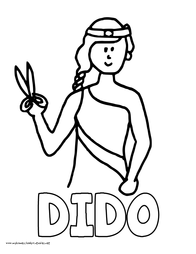World History Coloring Pages Printables Dido
