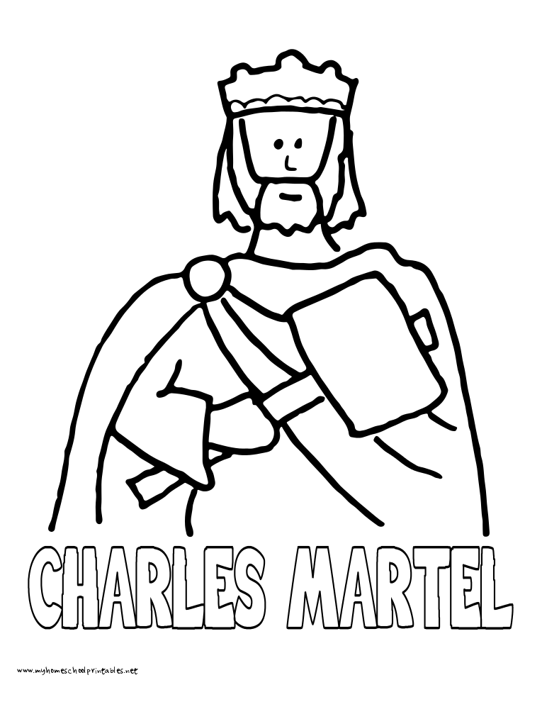 World History Coloring Pages Printables Charles the Hammer Martel