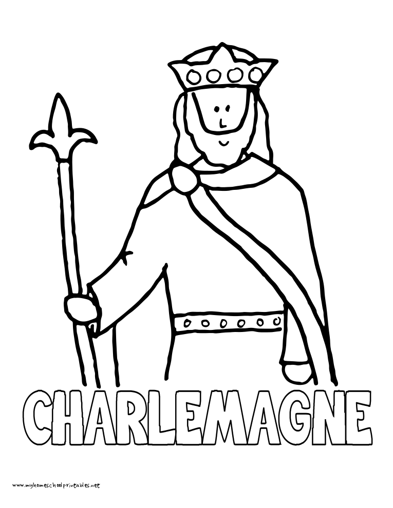 World History Coloring Pages Printables Charlemagne