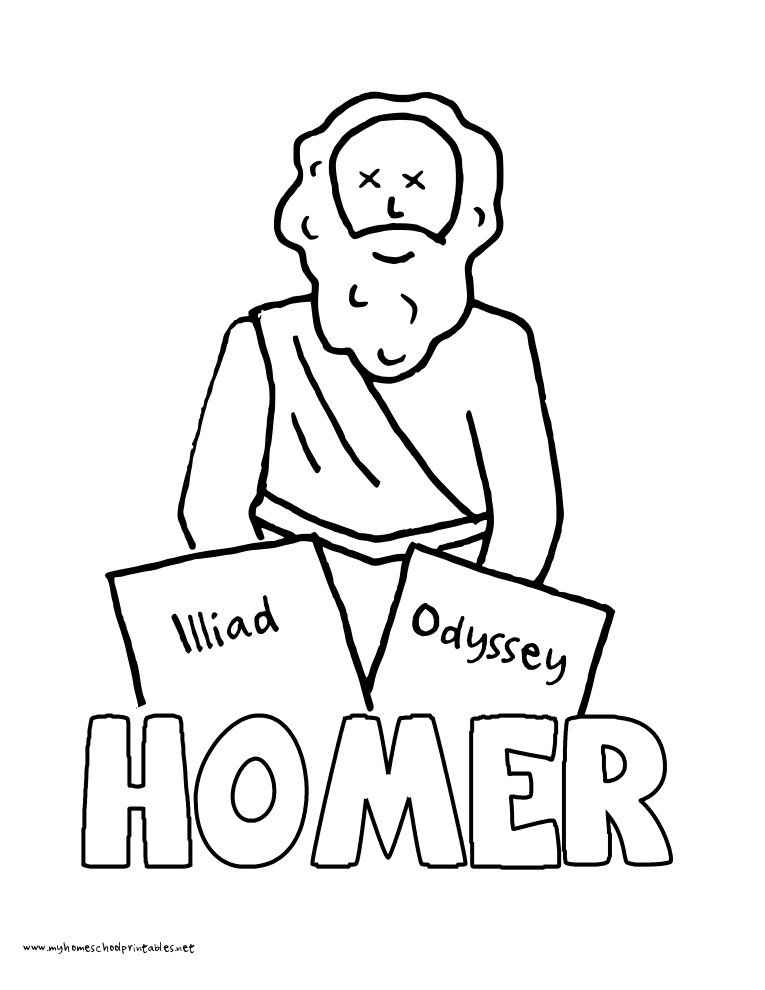 World History Coloring Pages Printables Homer