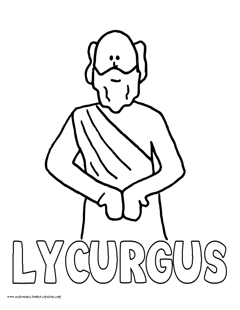 World History Coloring Pages Printables Lycurgus