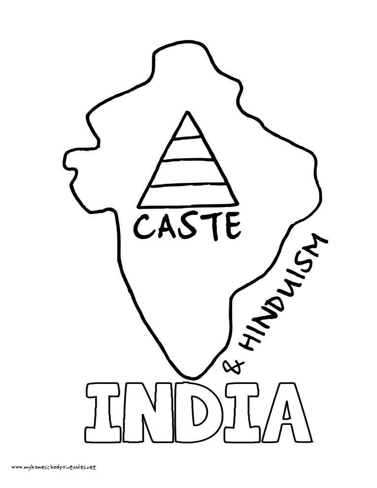 World History Coloring Pages Printables India