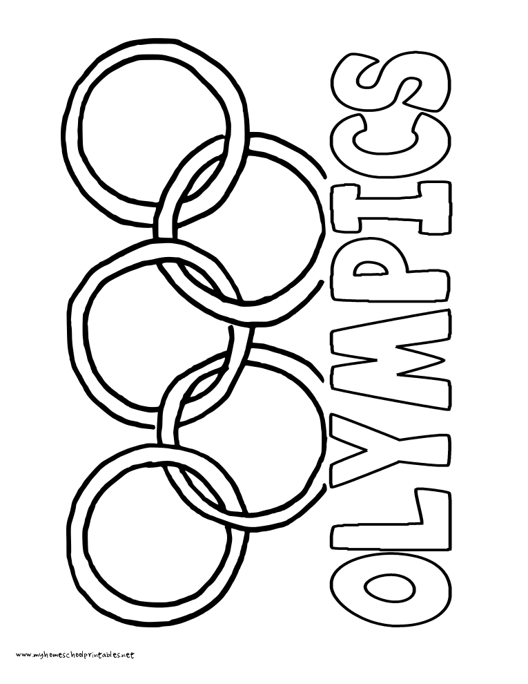 World History Coloring Pages Printables Olympic Rings