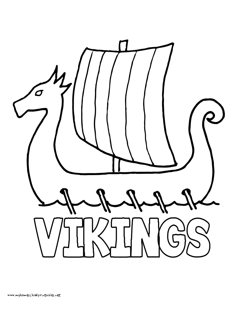 World History Coloring Pages Printables Vikings