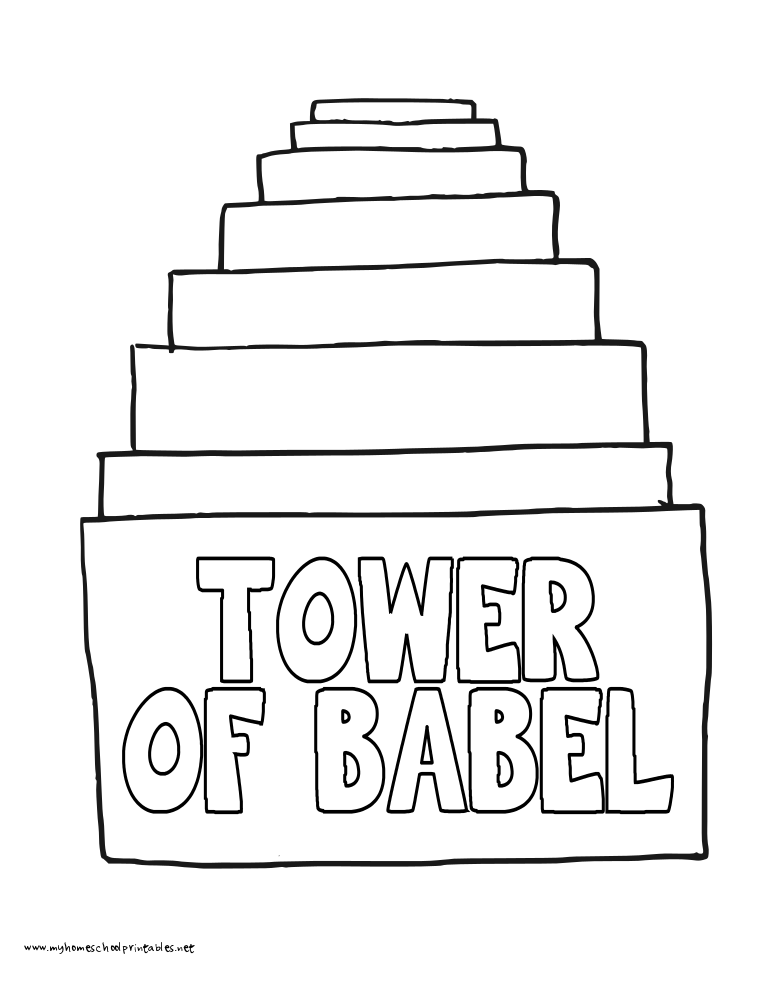 World History Coloring Pages Printables Tower of Babel