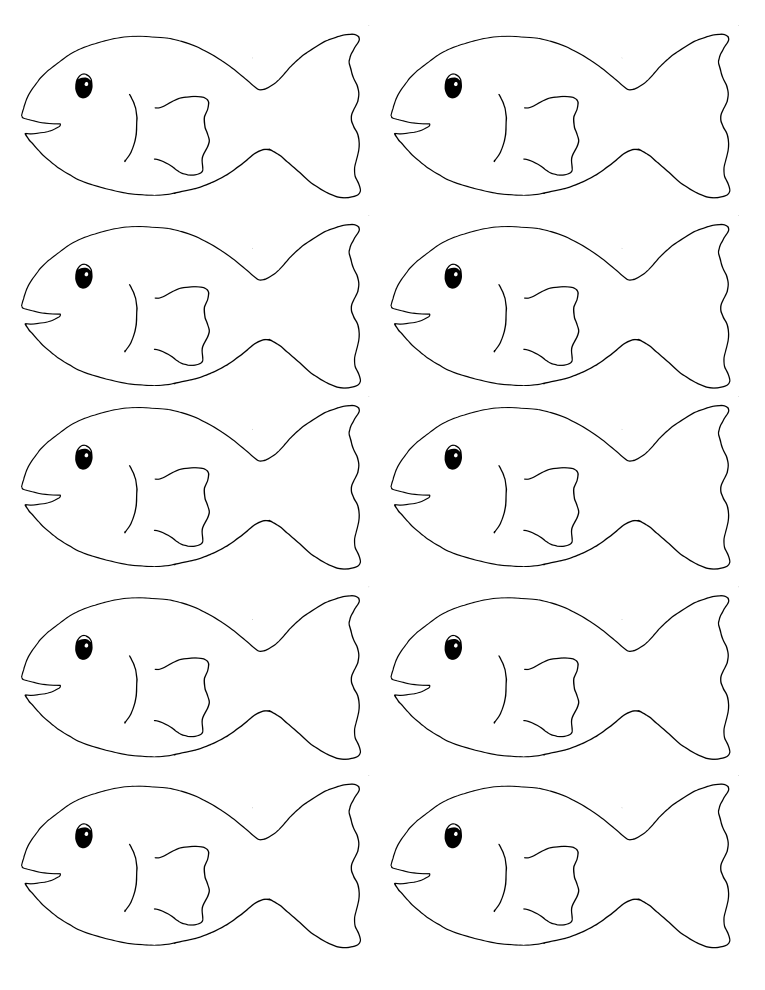 photo about Printable Fishing identified as My Homeschool Printables » Transfer Fish!