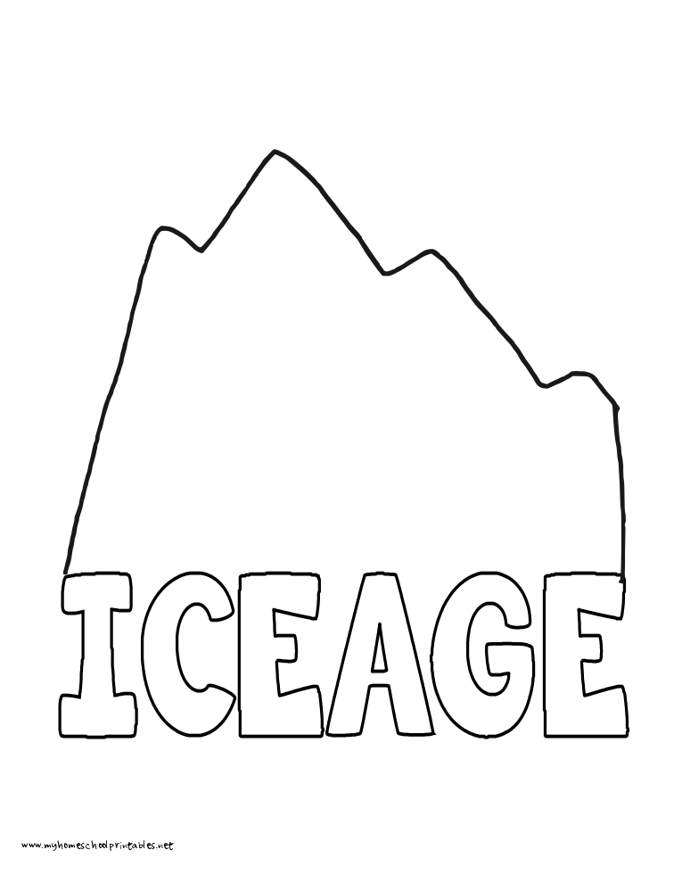 World History Coloring Pages Printables Ice Age