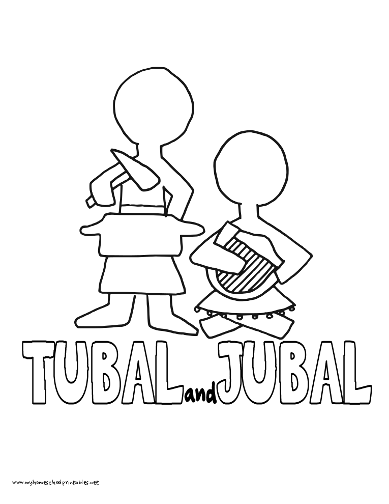 World History Coloring Pages Printables Jubal-Tubal