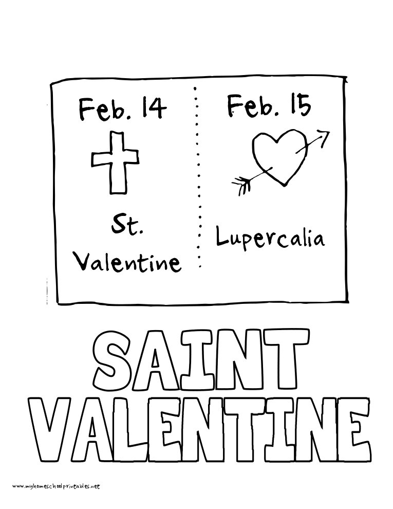 World History Coloring Pages Printables Saint Valentine