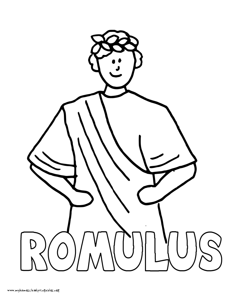 World History Coloring Pages Printables Romulus