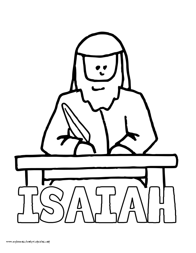 World History Coloring Pages Printables Isaiah