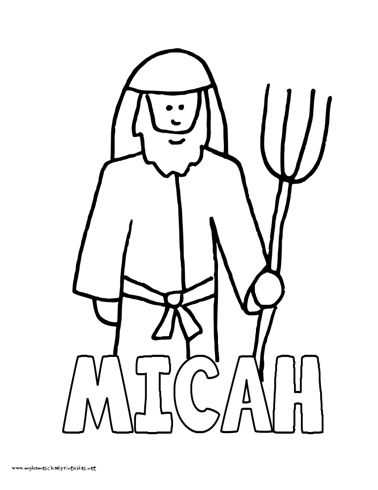 World History Coloring Pages Printables Micah