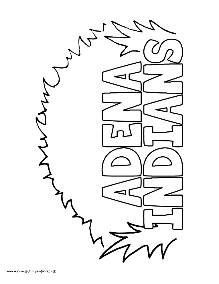World History Coloring Pages Printables Adena Indians Mound
