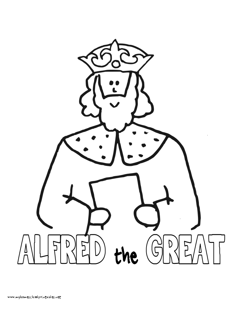 World History Coloring Pages Printables King Alfred the Great