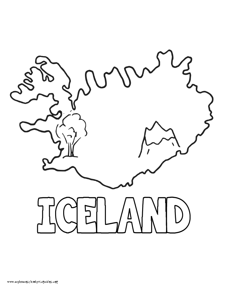 World History Coloring Pages Printables Iceland